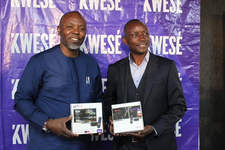 Executive Vice President for Econet Media Zachary Wazara and General Manager Kwese TV Kennedy Ojung'a