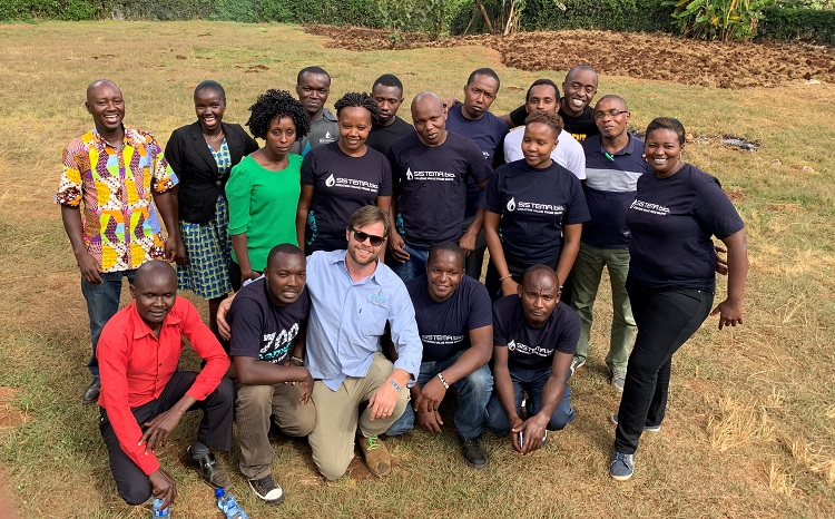 Sistema.bio founder and Chief Executive Officer Alex Eaton is in Kenya