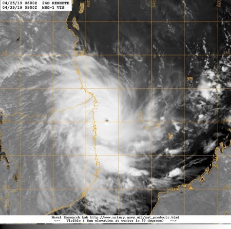 yclone Kenneth Will Not Hit Mombasa