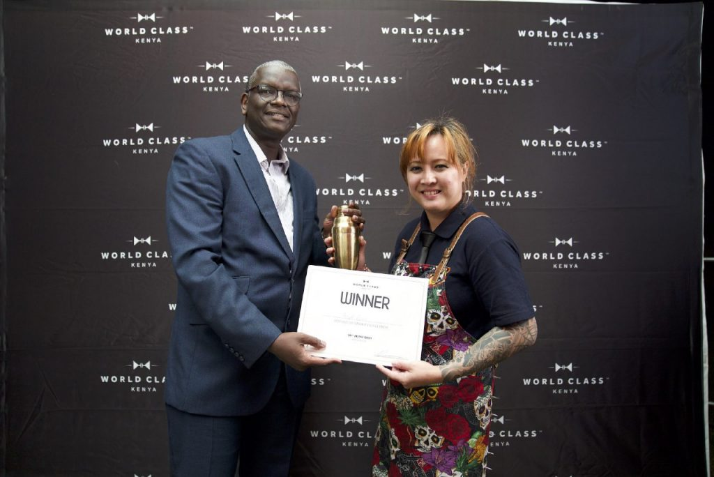 Angeliqua Rivera Crowned Kenya's  World Class Bartender of the Year 2019