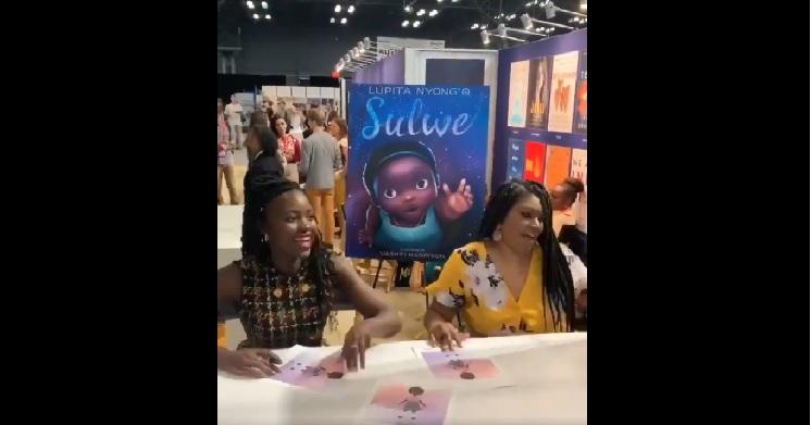 Lupita Nyong'o Promotes 'Sulwe' At Book Expo