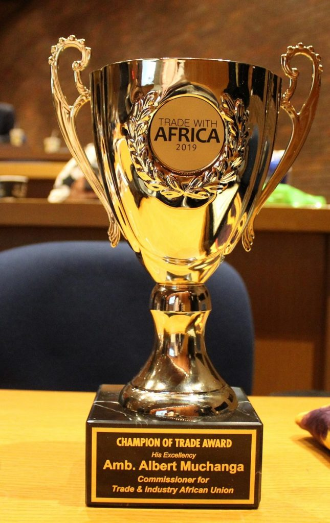 Trade With Africa Honours African Union Commissioner with the Champion of Trade 2019 Award