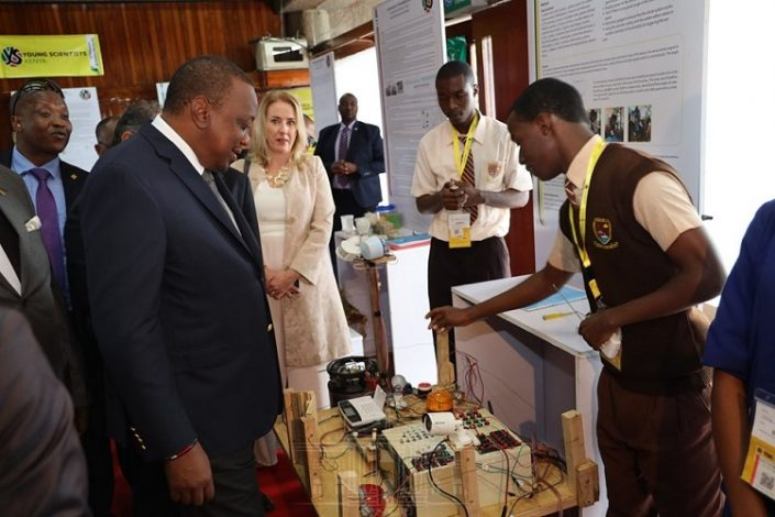 Young Scientists Kenya (YSK) in partnership with the Ministry of Education, The Embassy of Ireland, and BLAZE by Safaricom Tuesday kicked off the annual four-day National Science and Technology Exhibition for secondary school students.