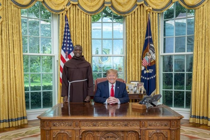 2019 Global $1 million Teacher Prize Winner, Peter Tabichi, met US President Donald Trump on Monday.