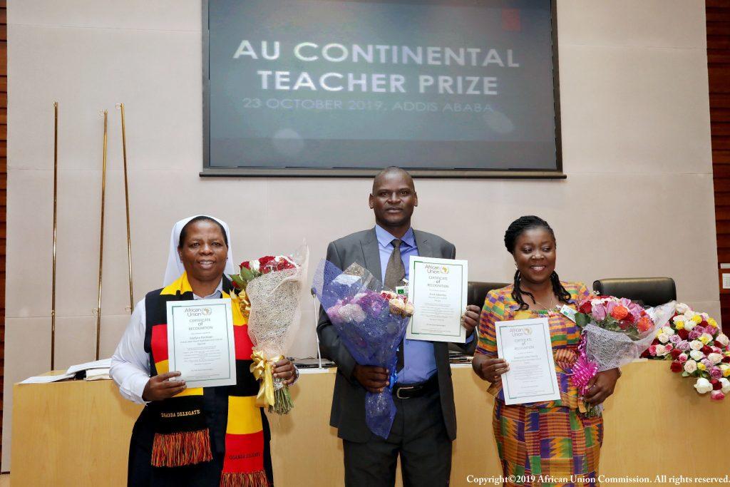 AU Awards 1st Continental Prizes to 3 Teachers from Kenya, Ghana and Uganda