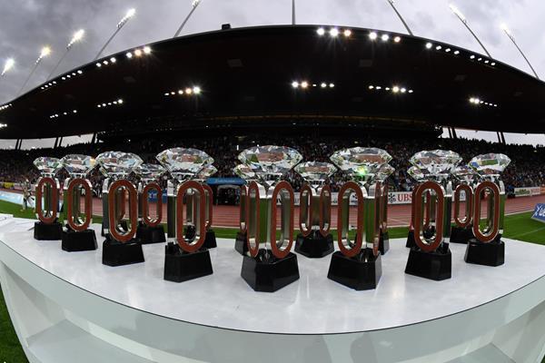 Diamond League trophies in Zurich. Photo: IAAF