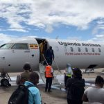 Uganda Airlines' Maiden Flight Lands in Mombasa, Eyes Tourism Sector