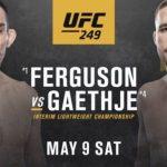 UFC 249 set for Saturday Night
