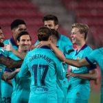 Barcelona put FOUR past Mallorca as Suarez and Messi make return