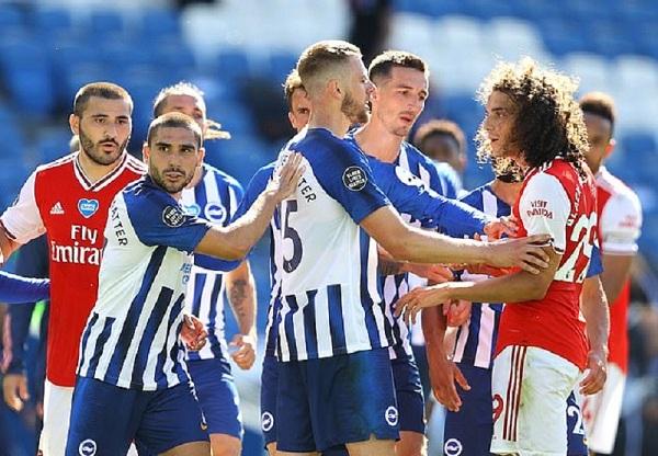 Arsenal's Matteo Guendouzi escapes punishment for grabbing Maupay around the neck