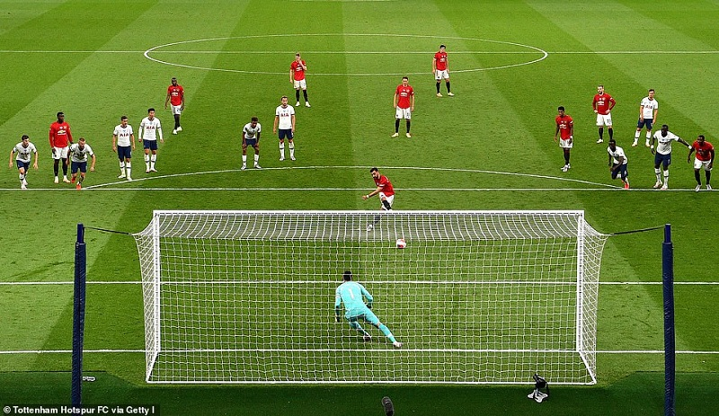 Tottenham and Manchester United played out to a 1-1 draw, both team's strikers made returns from injury.