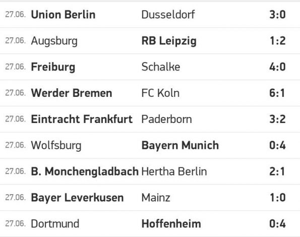 Bundesliga ends