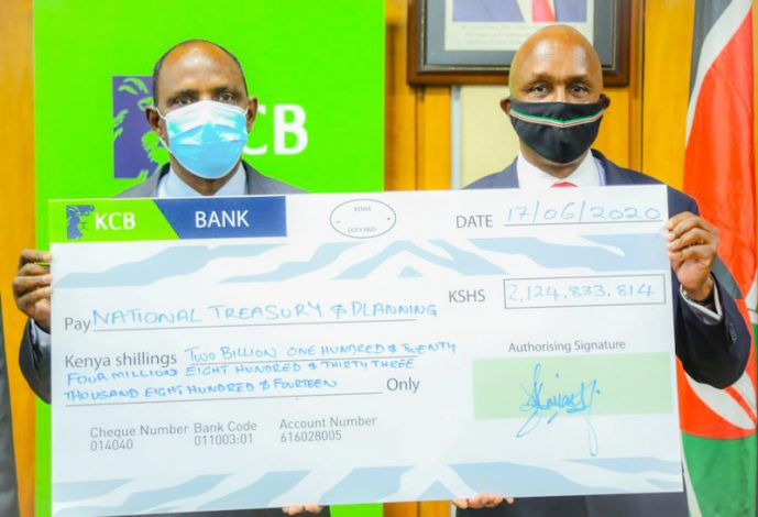 KCB Group Disburses KSh2.1 Bn Dividend Payout to Kenya Treasury
