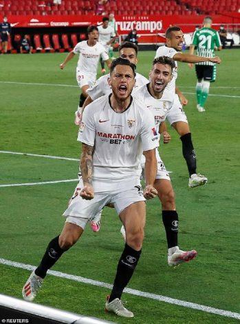 Sevilla beat Real Betis as football returns in Spain