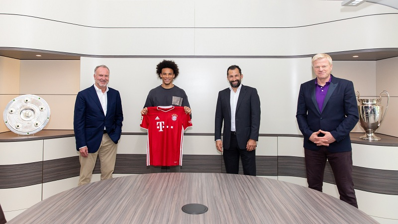 Sane joins Bayern from Manchester City