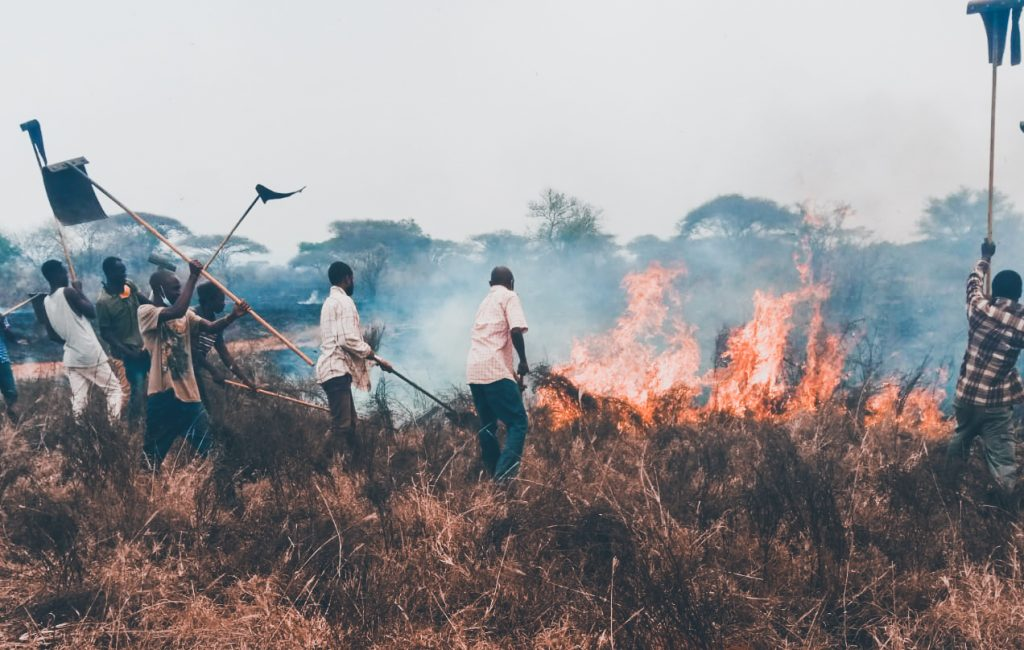 Kenya Wildlife Service (KWS) says it has contained the fire at Tsavo National Park.