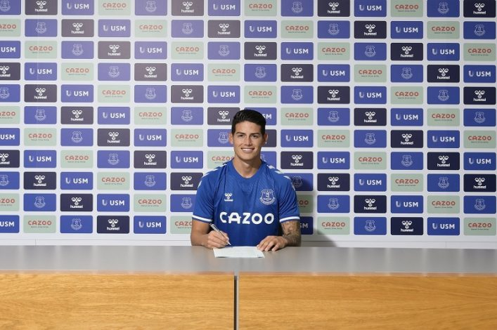 Everton seal signing of James Rodriguez from Real Madrid