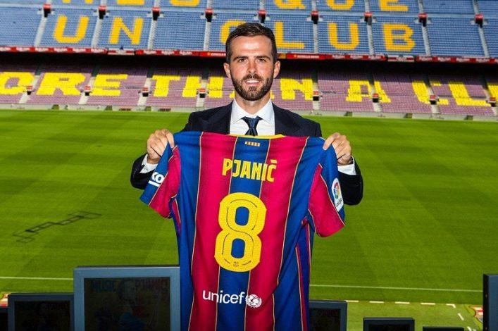 Barcelona unveil Miralem Pjanic at the Nou Camp
