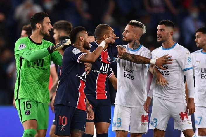 Le Classique ends in chaos as Marseille beat PSG 1-0 in fiery clash