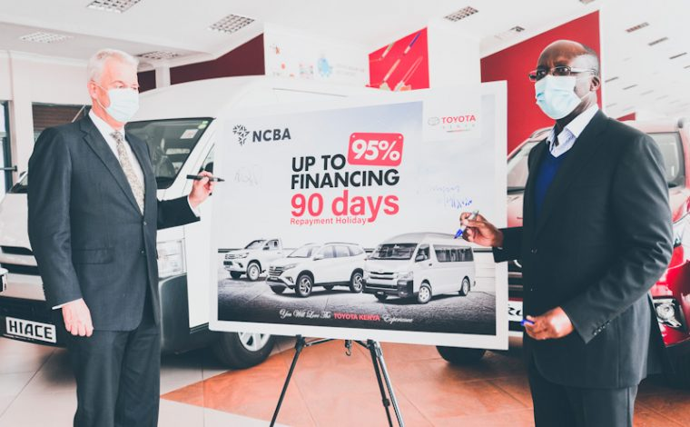 Toyota Kenya has partnered with NCBA Bank to offer flexible finance schemes for commercial and personal vehicle buyers.