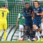 Europa League: Pierre Emerick Aubameyang and David Luiz give Arsenal 2-1 win over Rapid Vienna