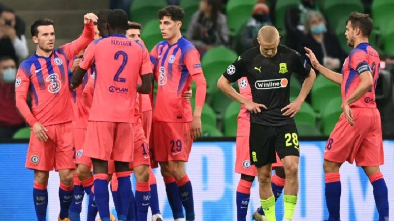 Chelsea put four past Krasnodar as Hakim Ziyech gets his debut goal