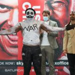 Boxing: Derek Chisora wears 'WAR paint' at weigh-in ahead of clash with Oleksandr Usyk on Saturday night