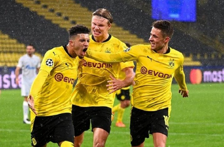 Borussia Dortmund's two late goals from Sancho and Haaland beat Zenit
