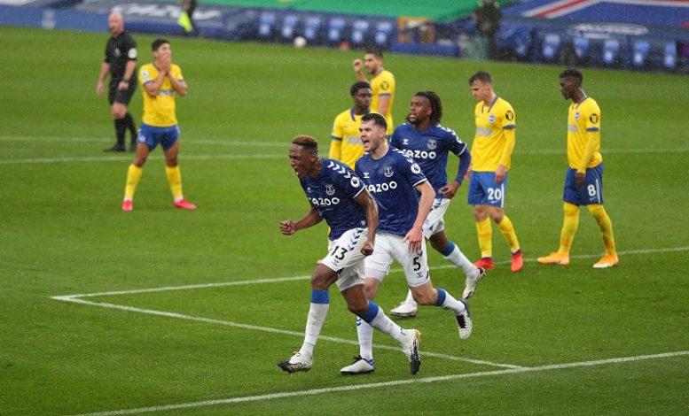 Everton beat Brighton 4-2 at Goodison Park