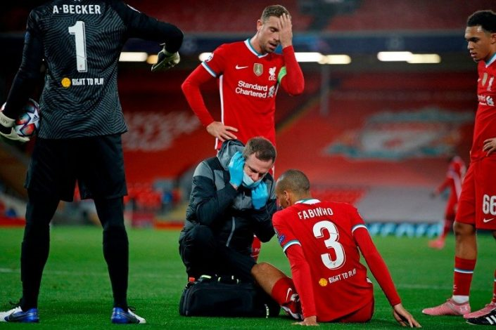 Liverpool's defensive woes grow as Fabinho hobbles off with hamstring injury