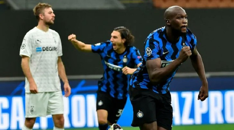 Inter Milan play out a 2-2 draw with Borussia Monchengladbach