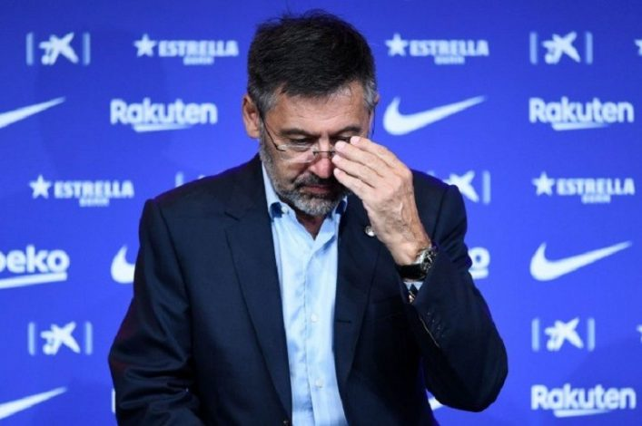Barcelona President Josep Bartomeu and the rest of club's board resign