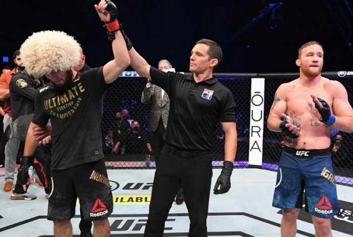 Dana White pays tribute to Khabib Nurmagomedov after announcing his retirement at UFC 254