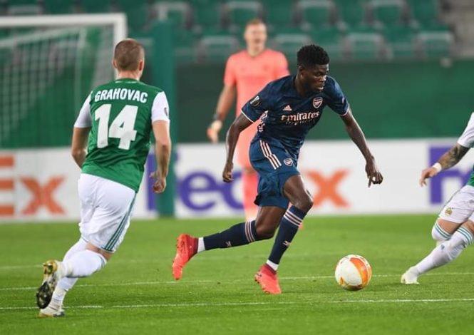 : Mikel Arteta impressed on Thomas Partey's full debut against Rapid Vienna