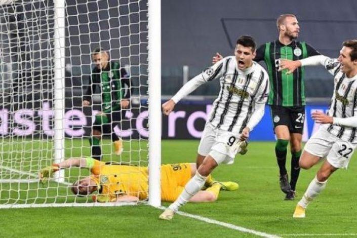 Juventus beat Ferencvaros 2-1 as Alvaro Morata grabs late winner