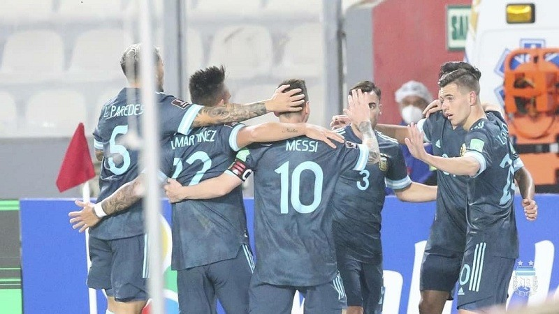 Argentina scored twice in the first half and were unfortunate not to score more in a dominant second as they comfortably beat Peru 2-0 in a World Cup qualifier in Lima on Tuesday.