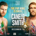Boxing: Canelo Alvarez confirms clash with Callum Smith on December 19