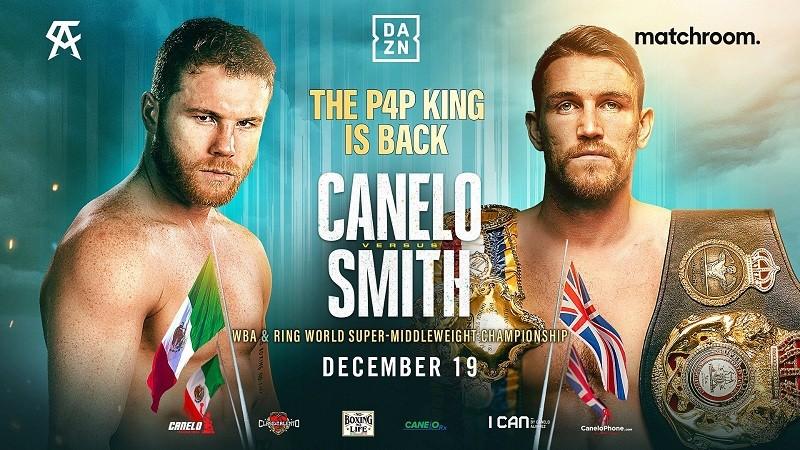 Canelo Alvarez confirms clash with Callum Smith on December 19