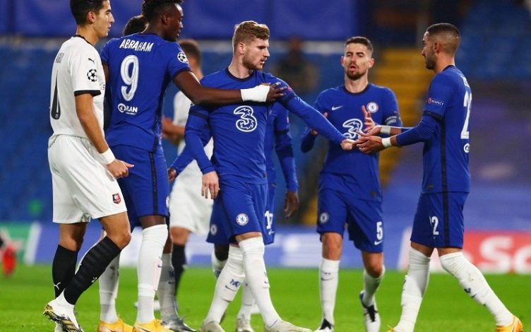 Timo Werner scores twice as Chelsea beat Rennes 3-0
