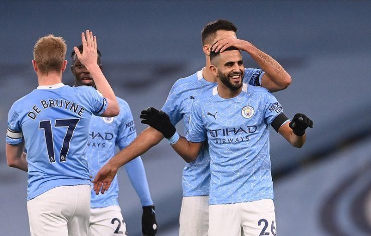 Riyad Mahrez grabs hat-trick as Manchester City put five past Burnley
