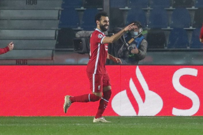 Mohammed Salah draws Steven Gerrard's all-time European record at Liverpool