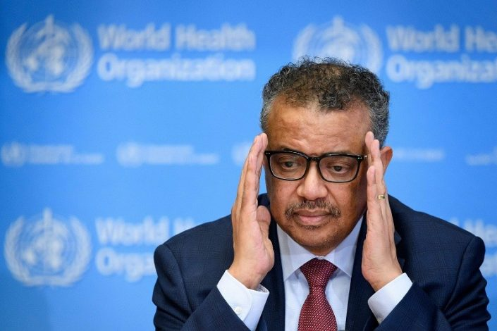 World Health Organization Director General in quarantine after contact gets Covid-19