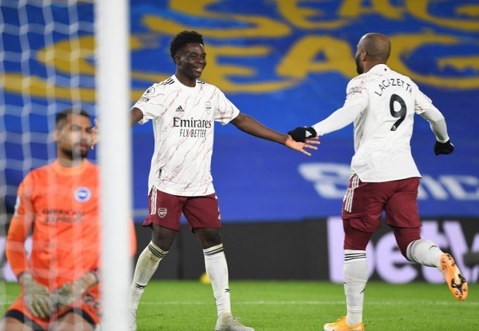 Arsenal down Brighton as Leeds put FIVE past West Brom
