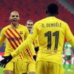 Champions League: Antoine Griezmann, Martin Braithwaite and Ousmane Dembele score as Barcelona beat Ferencvaros 3-0