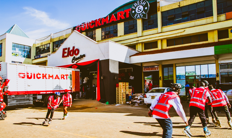 QuickMart Supermarket has taken up the space Tuskys vacated at Eldo Centre Mall in Eldoret