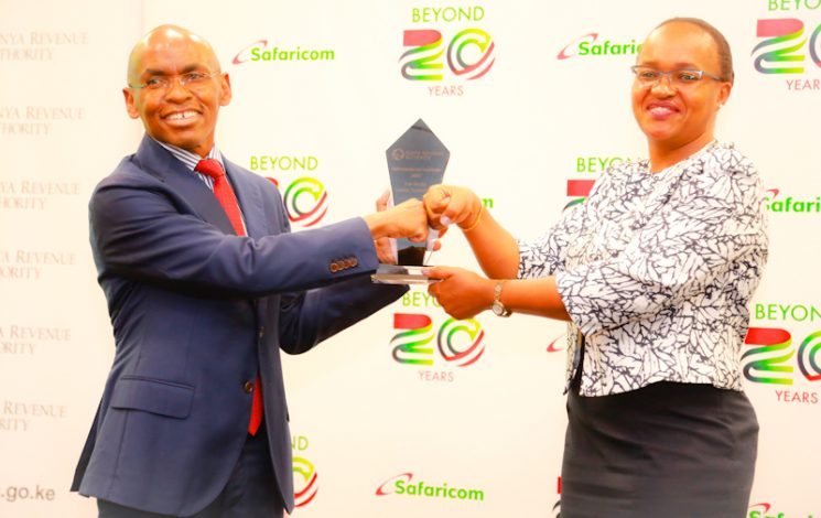 Safaricom Receives Award for The Top Taxpayer in the country by the Kenya Revenue Authority