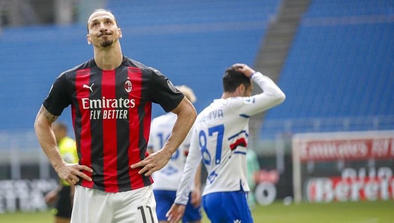 AC Milan held to 1-1 draw by 10-man Sampdoria