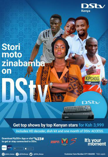 DStv customers purchase an HD Zappa decoder including a dish kit plus a one-month subscription on the DStv Access package for only Sh.3,999