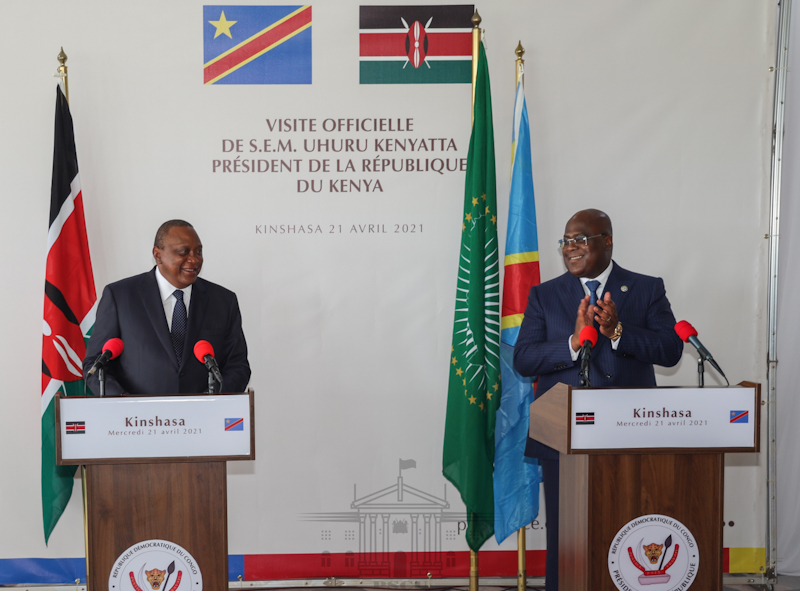 Kenya and the Democratic Republic of Congo (DRC) reaffirmed their strategic partnership by signing four framework cooperation agreements covering several economic sectors, security and defence as well as maritime transport.