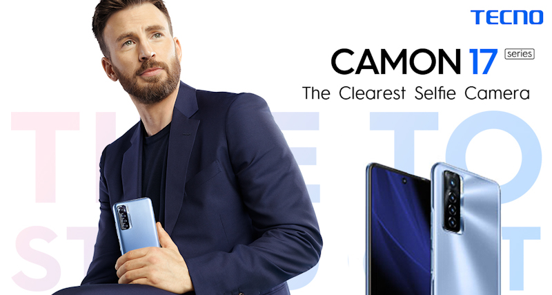 TECNO, the global premium smartphone brand its launched its Camon 17 series in Kenya alongside Hollywood actor Chris Evans as its Brand Ambassador.